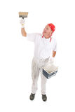 Painter with big brush for ceiling Stock Photography