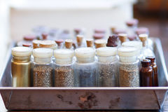 Painter bottles Stock Images
