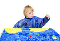 Painter boy Stock Image