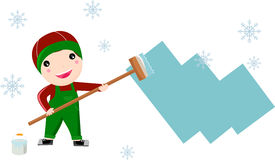 Painter Boy ,christmas Royalty Free Stock Photography