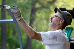 Painter Brush Man Stock Images