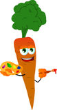 Painter carrot Stock Images
