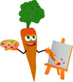 Painter carrot Royalty Free Stock Photo