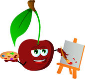 Painter cherry Royalty Free Stock Photography