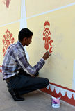 Painter in City Palace, Jaipur Stock Photography
