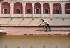 Painter in City Palace, Jaipur Stock Photo
