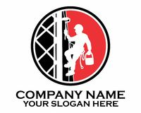 Painter climb logo Royalty Free Stock Images