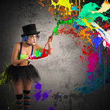 Painter clown Royalty Free Stock Photography