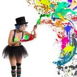 Painter clown Stock Image