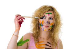 Painter and color Stock Photos