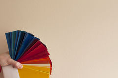 Painter color palette Stock Photography
