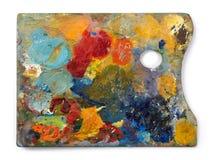 Painter color palette Stock Photo