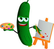 Painter cucumber or pickle Royalty Free Stock Photos