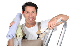 Painter and decorator Royalty Free Stock Photography