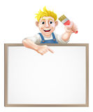 Painter decorator sign Royalty Free Stock Images