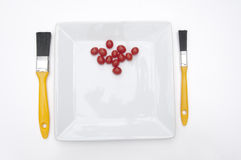 Painter and Decorators snack lunch Royalty Free Stock Photography