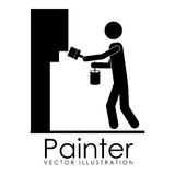 Painter design Royalty Free Stock Images