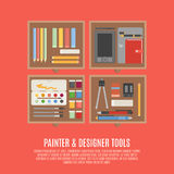 Painter And Designer Tools Concept Stock Photography
