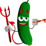 Painter devil cucumber or pickle Royalty Free Stock Photo