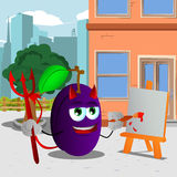 Painter devil plum in the city Stock Photography