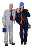 Painter and electrician Stock Photos