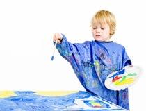 Painter explaining Royalty Free Stock Images