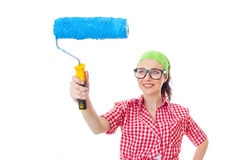 Painter female Royalty Free Stock Photo