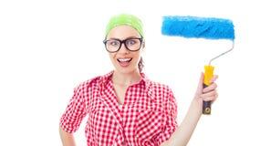Painter female Stock Photo
