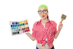 Painter female Royalty Free Stock Photos
