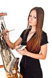 Painter girl Stock Photo