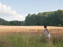 Painter-girl Stock Photography