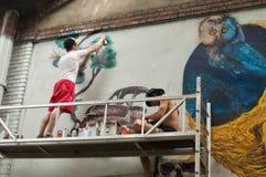 Painter of graffiti Royalty Free Stock Photography