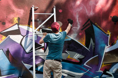 Painter of graffiti Royalty Free Stock Images