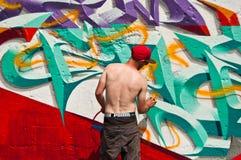 Painter of graffiti Royalty Free Stock Photo