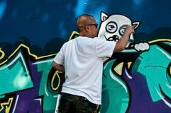 Painter of graffiti Stock Images