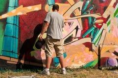 Painter of graffiti Royalty Free Stock Photos