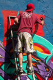 Painter of graffiti Stock Photos