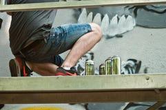 Painter of graffiti Stock Photo