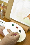 Painter hands Royalty Free Stock Photography