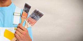 Painter hands. Stock Images