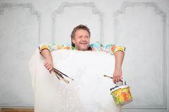 Painter and his art Stock Photos