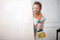 Painter and his art Royalty Free Stock Image