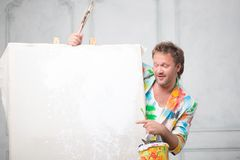 Painter and his art Stock Image