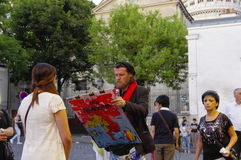 Painter and his model Stock Photo