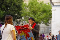 Painter and his model Royalty Free Stock Photo