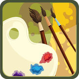 Painter icon Royalty Free Stock Images