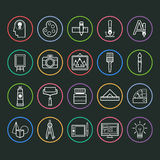 Painter icon set Royalty Free Stock Photos