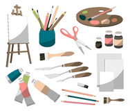 Painter icons set Royalty Free Stock Photography