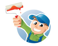 Painter illustration Stock Image