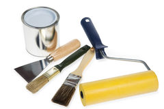Painter implements Royalty Free Stock Photography